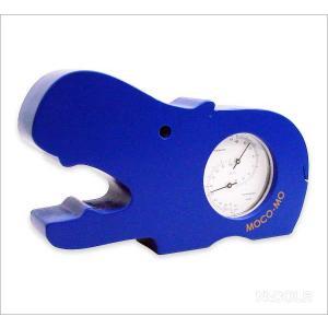 モコモ 温湿度計 カバ ブルー|nacole