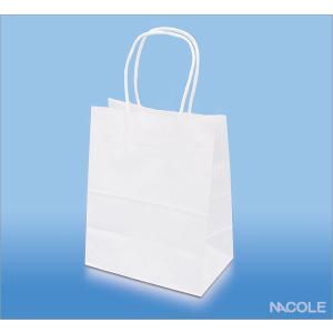 手提げ袋 紙袋 白無地 10枚セット(結婚内祝い 出産内祝い おしゃれ ギフト お返し)|nacole