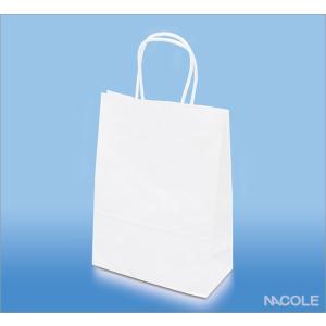 手提げ袋 紙袋 白無地 10枚セット|nacole