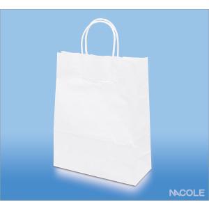 手提げ袋 紙袋 白無地 10枚セット(結婚内祝い 出産内祝い おしゃれ 寒中見舞いギフト お返し)|nacole