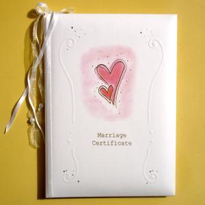 結婚証明書 ハート(結婚内祝い 出産内祝い おしゃれ ギフト お返し)|nacole