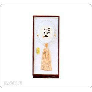 数珠・念珠 女性用 天然水晶 サンゴ仕立片手|nacole
