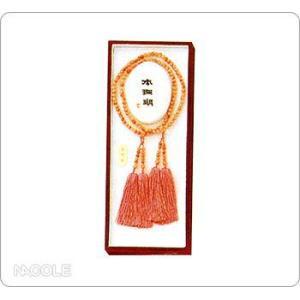 数珠・念珠 女性用 深海サンゴBカラー 振分(結婚内祝い 出産内祝い おしゃれ 寒中見舞いギフト お返し)|nacole