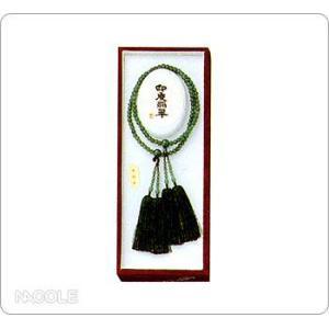 数珠・念珠 女性用 インドヒスイ 振分(結婚内祝い 出産内祝い おしゃれ 寒中見舞いギフト お返し)|nacole