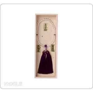 数珠・念珠 女性用 本水晶 紫水晶仕立片手 正絹頭付房 桐箱入(結婚内祝い 出産内祝い おしゃれ 寒中見舞いギフト お返し)|nacole