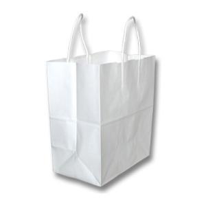手提げ袋 紙袋 白無地 中 10枚セット(結婚内祝い 出産内祝い おしゃれ 寒中見舞いギフト お返し)|nacole