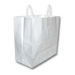 手提げ袋 紙袋 白無地 大 10枚セット(結婚内祝い 出産内祝い おしゃれ 寒中見舞いギフト お返し)|nacole