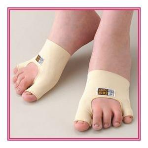 外反母趾・内反小指シルクサポーター 1足組(両足用) 手軽で簡単!生活スタイルを変えずに足をケアできます!|nadeshico