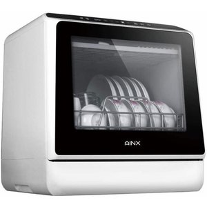 【AINX】食器洗い乾燥機 AX-S3W ホワイト アイネクス 工事不要 据え置き型「メーカ直送の為代引き不可」|nadeshico