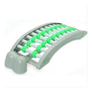 ヘッドレス付 背のばしローラー グリーン指圧 マッサージ 健康器具 背伸ばし器具 ストレッチ 背筋のばしローラー nadeshico