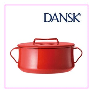 ■送料無料■ DANSK ダンスク コベンスタイル 両手鍋 18cm チリレッド 834300 ホーロー ウェア デンマーク|nadeshico
