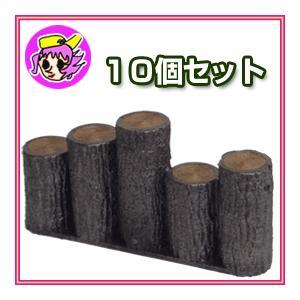 プラスチック製擬木 はなえ80 乱 高さ200mm 10個セット 庭園、花壇の縁取りに取り扱いやすい5連タイプ 段々タイプ 10個セット|nadeshico