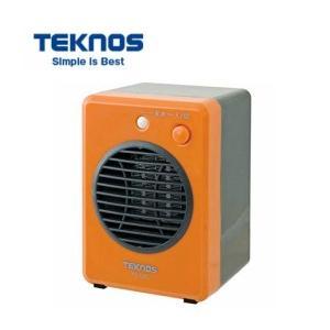 TEKNOS モバイルセラミックファンヒーター オレンジ TS-320  300W テクノス 暖房器...