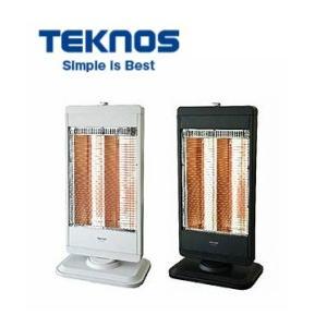 【在庫特価】TEKNOS カーボンヒーター 2灯 切替式  CHM-4531W/K ホワイト/ブラック 転倒オフスイッチ 暖房器具 テクノス