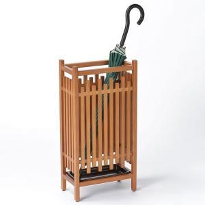 秋田杉 格子傘立 OM-181(玄関の傘の収納家具 和風のインテリアにおすすめの傘立て)|nadeshico