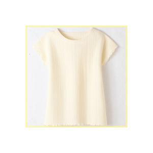 変わり編みフレンチシャツ5枚組み 夏に涼しげな丸首のシャツ nadeshico