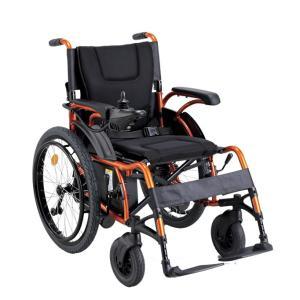 車椅子 電動車椅子 KEY-01(右利き用) 折りたたみ 背折れ 自走式 車いす 最新 軽量  収納簡単 コンパクト 傾斜路面にも安定 【メーカー直送の為代引き不可】|nadeshico