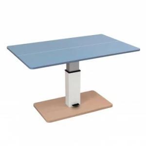 昇降式テーブル兼卓球台ライトブルーXナチュラルSHT-2 ■代金引換不可■ リビングでテーブルテニス|nadeshico
