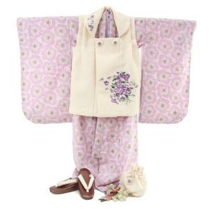 七五三 3歳 着物 レンタル 女の子 被布着物10点セット 薄ピンク地に花 JILLSTUART...
