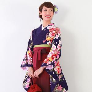 卒業式 袴 レンタル袴セット卒業式袴セット2尺袖着物&袴 フ...