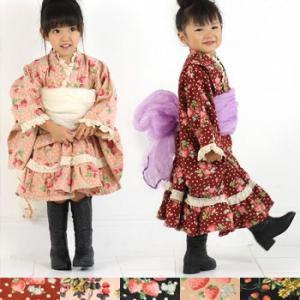 七五三・初詣・結婚式やパーティーに 秋冬用着物ドレス...