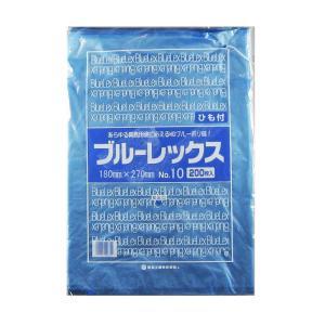 青果・鮮魚用ポリ袋 ブルーレックス 規格袋 No.10 紐付(180×270/0.01mm) 10,000枚 − 福助工業|nadja