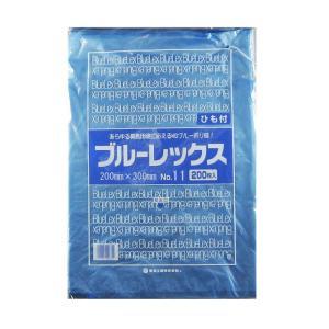 青果・鮮魚用ポリ袋 ブルーレックス 規格袋 No.11 紐付(200×300/0.012mm) 8,000枚 − 福助工業|nadja