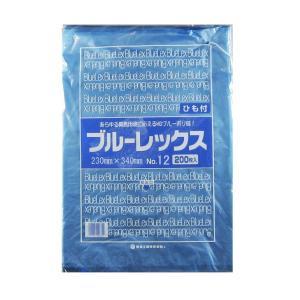 青果・鮮魚用ポリ袋 ブルーレックス 規格袋 No.12 紐付(230×340/0.012mm) 6,000枚 − 福助工業|nadja