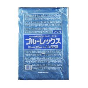 青果・鮮魚用ポリ袋 ブルーレックス 規格袋 No.13 紐付(260×380/0.012mm) 6,000枚 − 福助工業|nadja