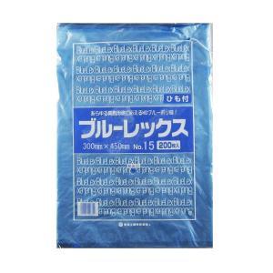 青果・鮮魚用ポリ袋 ブルーレックス 規格袋 No.15 紐付(300×450/0.012mm) 4,000枚 − 福助工業|nadja