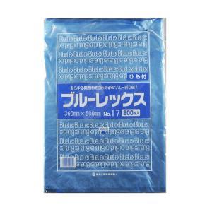 青果・鮮魚用ポリ袋 ブルーレックス 規格袋 No.17 紐付(360×500/0.012mm) 3,000枚 − 福助工業|nadja