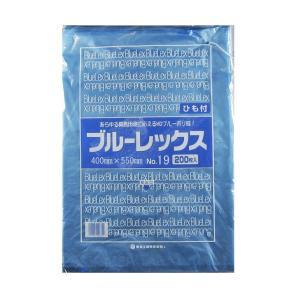 青果・鮮魚用ポリ袋 ブルーレックス 規格袋 No.19 紐付(400×550/0.013mm) 2,000枚 − 福助工業|nadja