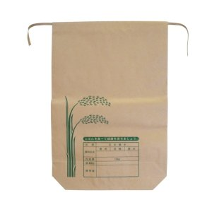 クラフト用紙 米袋 10kg バンド付A 100枚 − 王子製袋|nadja