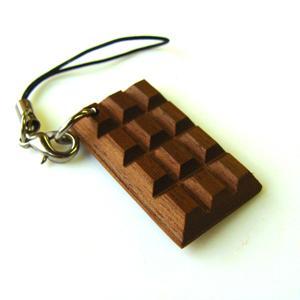 ストラップ バレンタイン おもしろ チョコ 木製 名前入り プレゼント 名入れ チョコレート かわいい メッセージ  /翌々営業日出荷|nafudaya