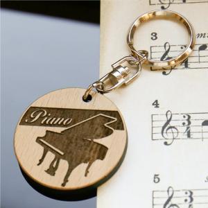木製 記念 キーホルダー 木 吹奏楽 ピアノ ...の詳細画像1