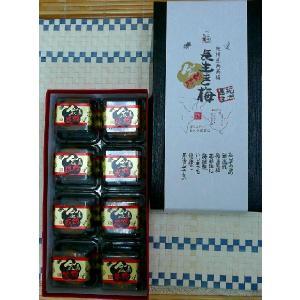 金梅招8粒個包装(はちみつ梅金粉入り・紀州産南高梅 塩分8%)|nagaikiya88