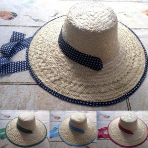 晒 ヘリ巻 帽子 女 (麦わら帽子)農作業 帽子 おしゃれ (北海道、東北¥1000・沖縄、離島¥2000別途送料)|nagamineshouten2