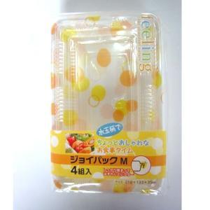 ジョイパック M 4P(折箱・弁当箱) (北海道、東北¥1000・沖縄、離島¥2000別途送料)|nagamineshouten2