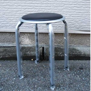 丸椅子 (丸天椅子) (背無し) (北海道、東北¥1000・沖縄、離島¥2000別途送料)|nagamineshouten2