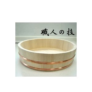 日本製 木製 寿司桶(16号 2升) (北海道、東北¥1000・沖縄、離島¥2000別途送料)|nagamineshouten2