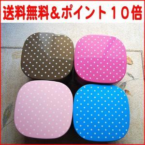 ポイント10倍 重箱 角丸型 水玉 ドット (ピンク・ブルー・ブラウン) 6.5寸 3〜4人用送料無料 nagamineshouten