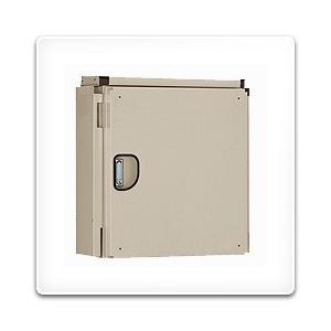 ARA20-68D 日東工業 アルミキャビネット・屋外遮光板付タイプ[木製基板付]・ライトベージュ色(600×800×240、片扉)|nagamono-taroto