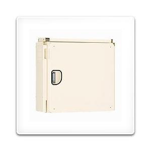 ATHR25-77DC-F 日東工業 アルミ製HUB収納キャビネット(屋外遮光板付タイプ)・クリーム色(780×748×290)|nagamono-taroto