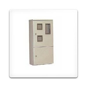 HVP-5LCB 日東工業 ペデスタルボックス[木製基板付]・ライトベージュ色(500×1000×250、片扉)|nagamono-taroto