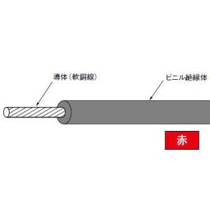 IV0.9SQ(長さ300m、赤色)|nagamono-taroto