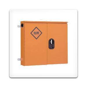 K20-68 日東工業 仮設キャビネット[木製基板付]・オレンジ色(600×800×200、両扉)|nagamono-taroto