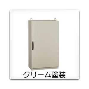 LE35-610C 日東工業 LE形自立キャビネット(水切、防塵・防水パッキン付)[鉄製基板付]・クリーム色(600×1000×350、片扉)|nagamono-taroto