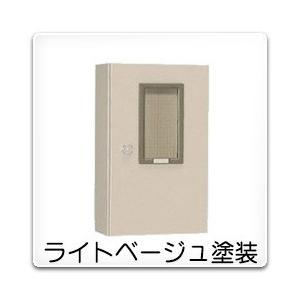 M-18B 日東工業 引込計器盤キャビネット(水切、防塵・防水パッキン付)[木製基板付]・ライトベージュ色(400×1200×200、片扉)|nagamono-taroto