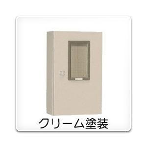 M-18BC 日東工業 引込計器盤キャビネット(水切、防塵・防水パッキン付)[木製基板付]・クリーム色(400×1200×200、片扉)|nagamono-taroto