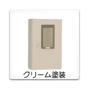 M-46BC 日東工業 引込計器盤キャビネット(水切、防塵・防水パッキン付)[木製基板付]・クリーム色(500×1000×200、片扉)|nagamono-taroto